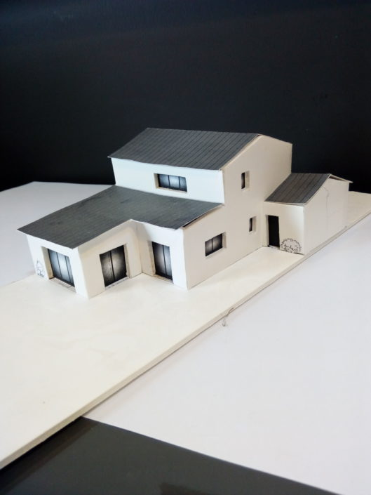 Maquette 3D de rénovation de maison